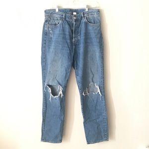 Denim - H&M Vintage high cropped jeans